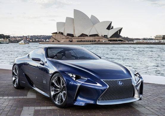 雷克萨斯LF-LC蓝色混动概念车 澳洲亮相(图)
