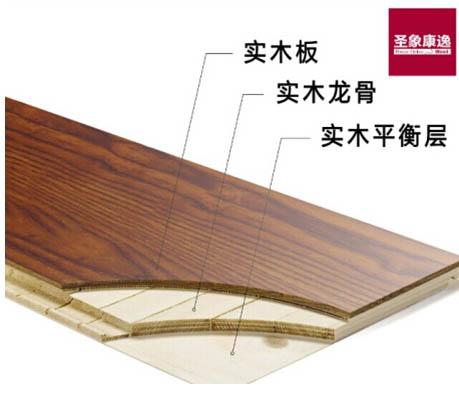 圣象三层实木地板——无缝的