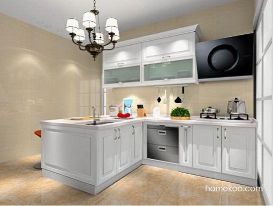 清新凉快厨房装修效果图大全2012图片