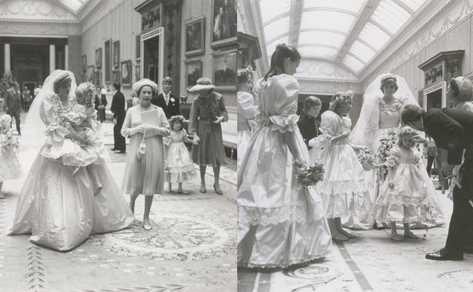 戴安娜王妃大婚罕见照曝光 天价婚纱美轮美奂