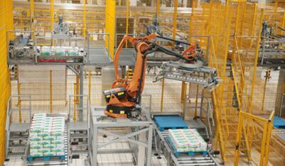 伊利智能工厂自动码货机器人