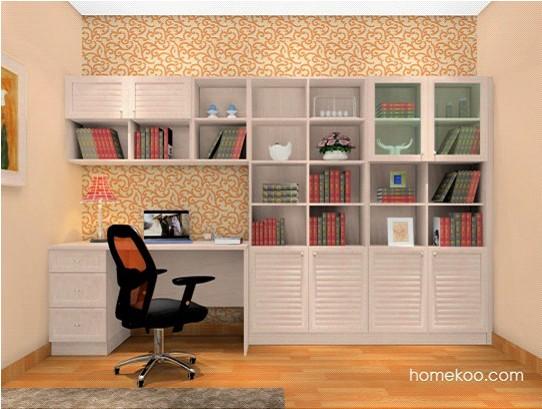 整体书柜有着很强大的书本收纳功能,最主要是整体书柜考虑到了书房的