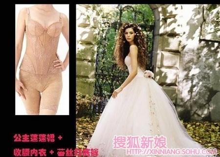 这些婚纱新娘里面穿的啥内衣